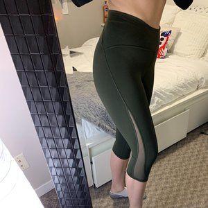 Army Green Lululemon Leggings - Crop